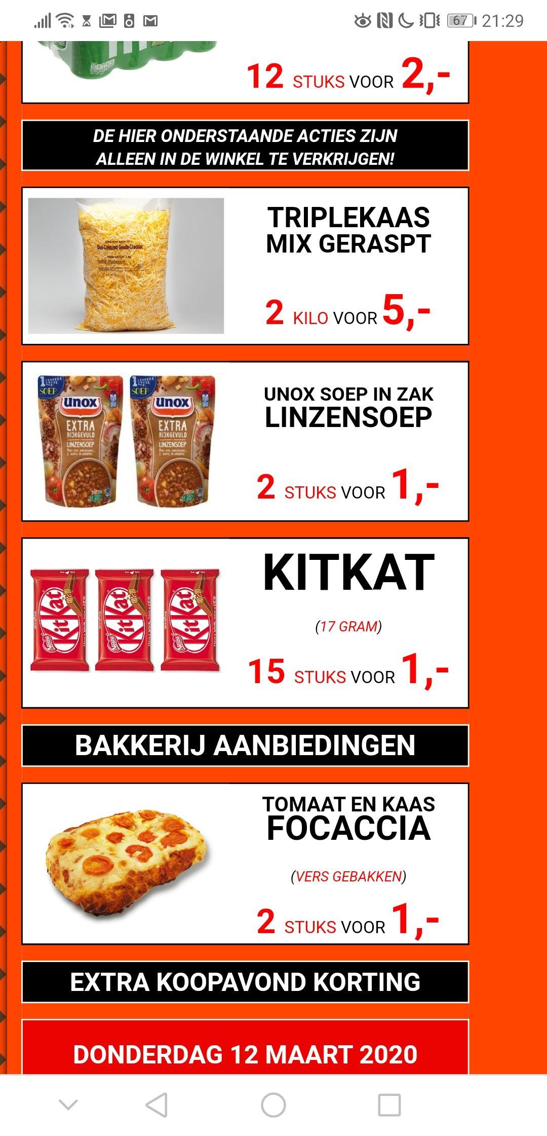 15 Stuks KitKat voor 1 euro! [ALMERE]