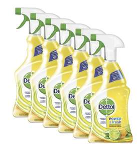 6x 500ml Dettol Allesreinger Spray Power & Fresh Spray Citroen @ Bol.com