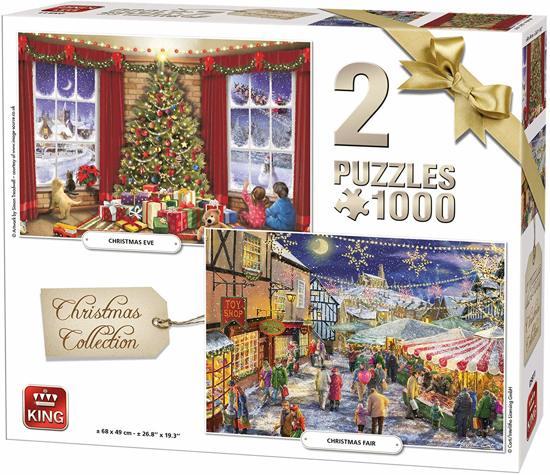 King 2-in-1 Kerst legpuzzel 1000 stukjes elk voor €4,29 @ bol.com