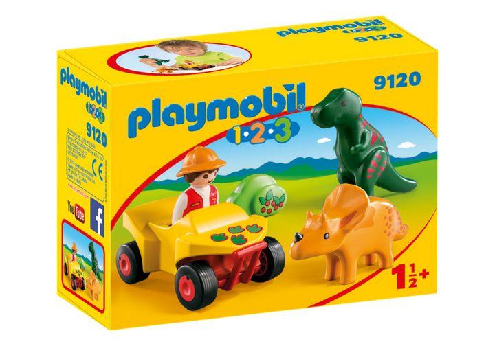 Playmobil 1.2.3 dino-onderzoeker met quad (9120) voor €4,99 @ Trekpleister winkels