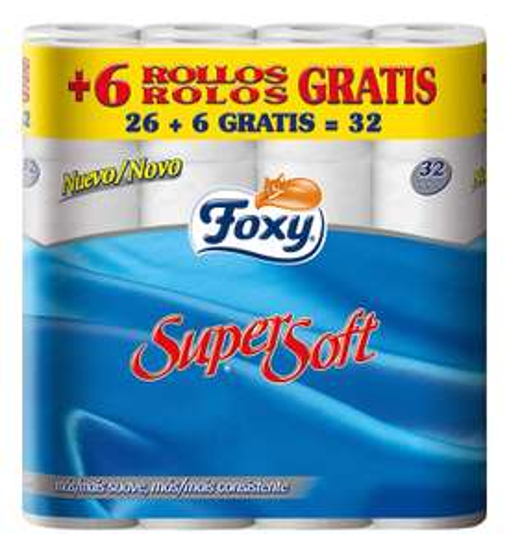Foxy wc-papier Supersoft 26 + 6 stuks