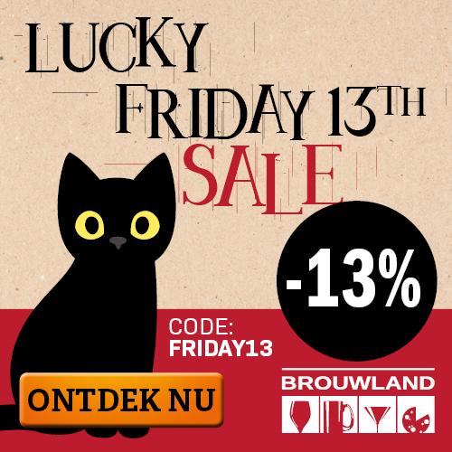 Lucky Friday 13th Sale bij Brouwland: 13% korting op het hele assortiment