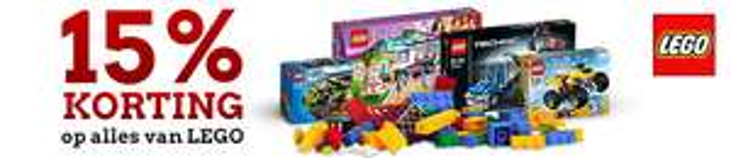 15% korting op alle LEGO @ Blokker