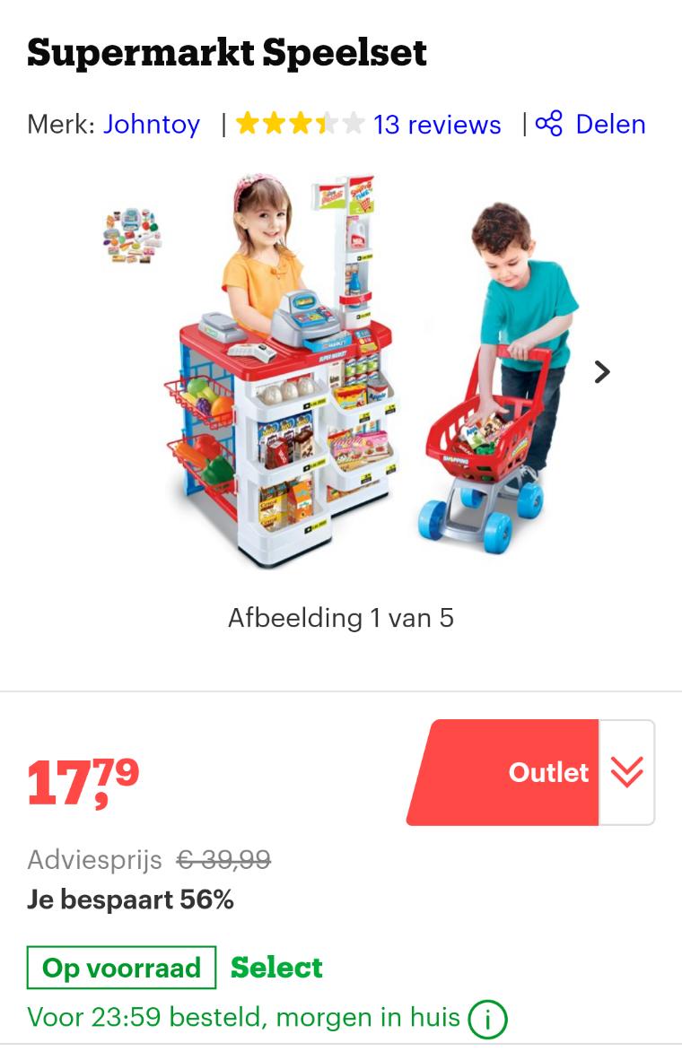Supermarkt speelset @ Bol.com