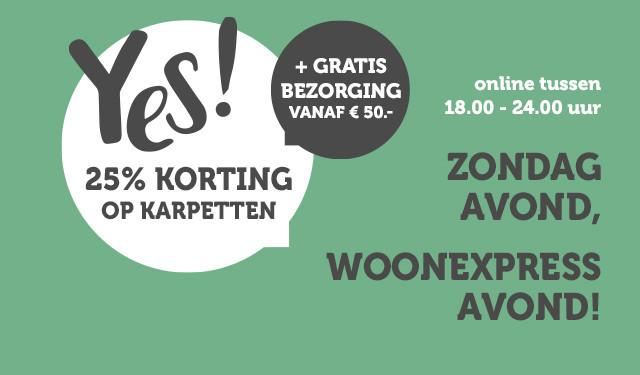 WoonExpress - 25% op alle karpetten