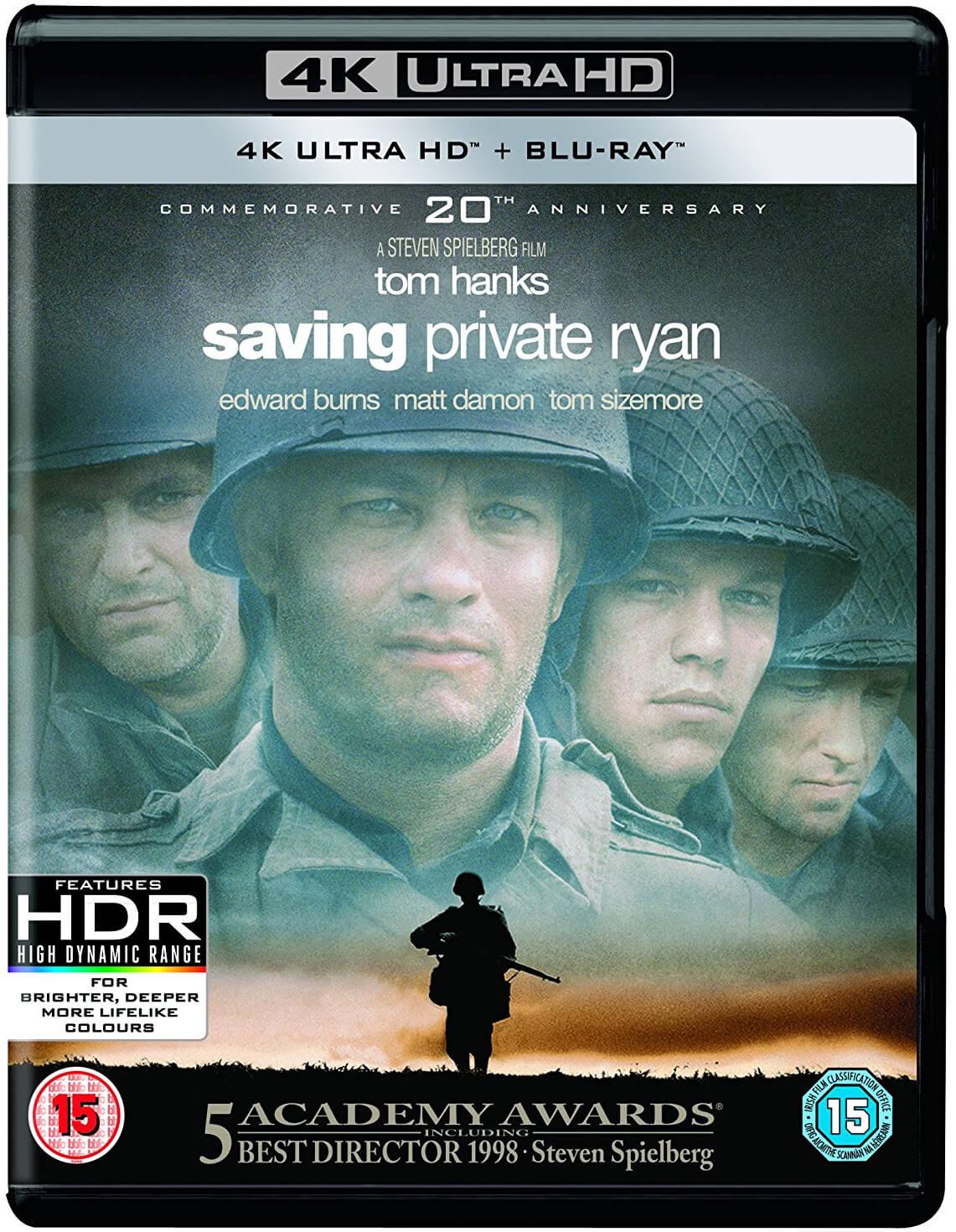 Saving Private Ryan 4K Blu-ray + meer titels