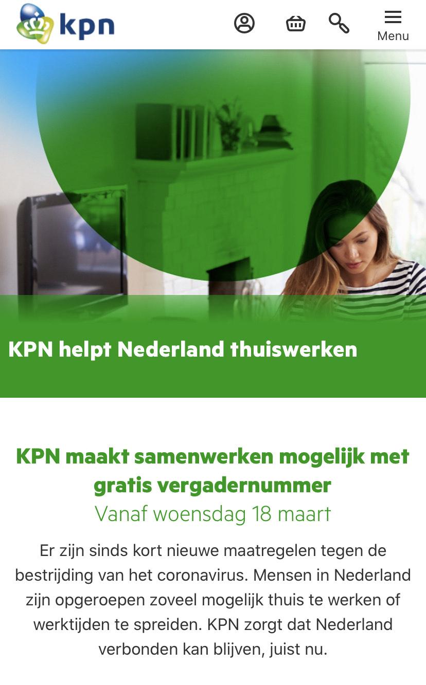 KPN HELPT (gratis vergadernummer)