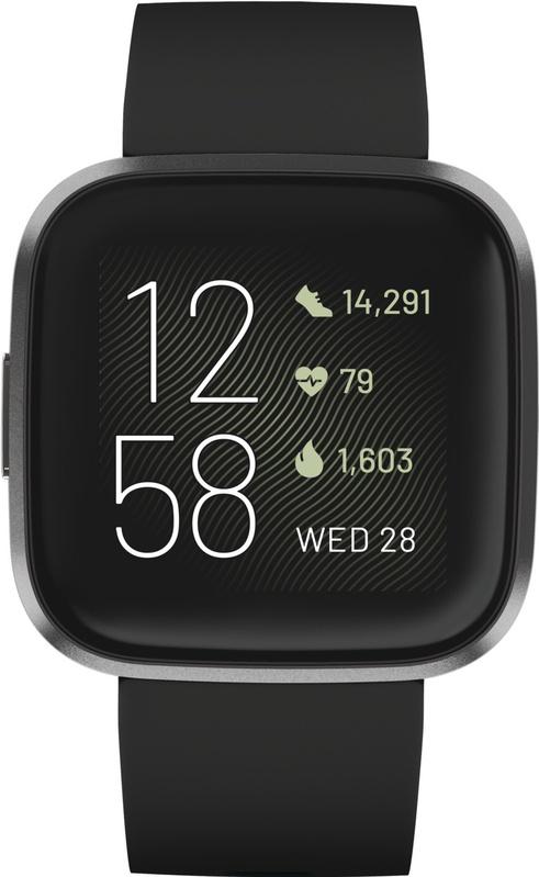 Fitbit Versa 2 Gezondheids- en fitnesssmartwatch / zwart