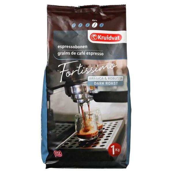Kruidvat koffiebonen 2 zaken voor € 10,-