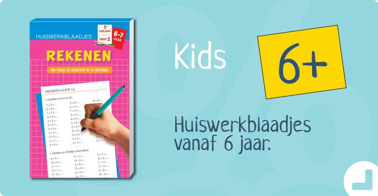 Huiswerkblaadjes en oefenschriften voor kinderen vanaf 4jaar