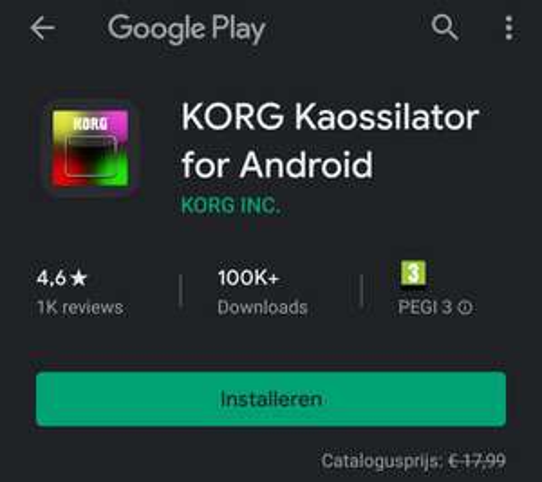 Gratis Korg en Minimoog app en andere gratis Android / Ios apps en deals
