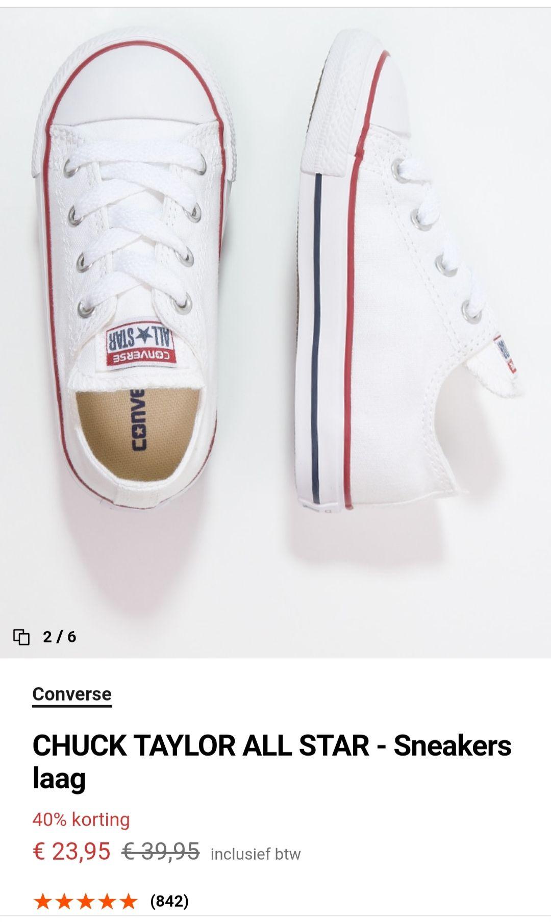 Zalando: Converse sneakers laag, wit - Baby/peuter