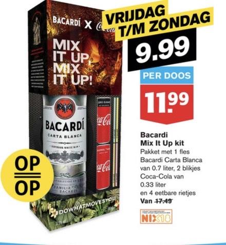 Bacardi 0,7L 2 blik Cola €9,99