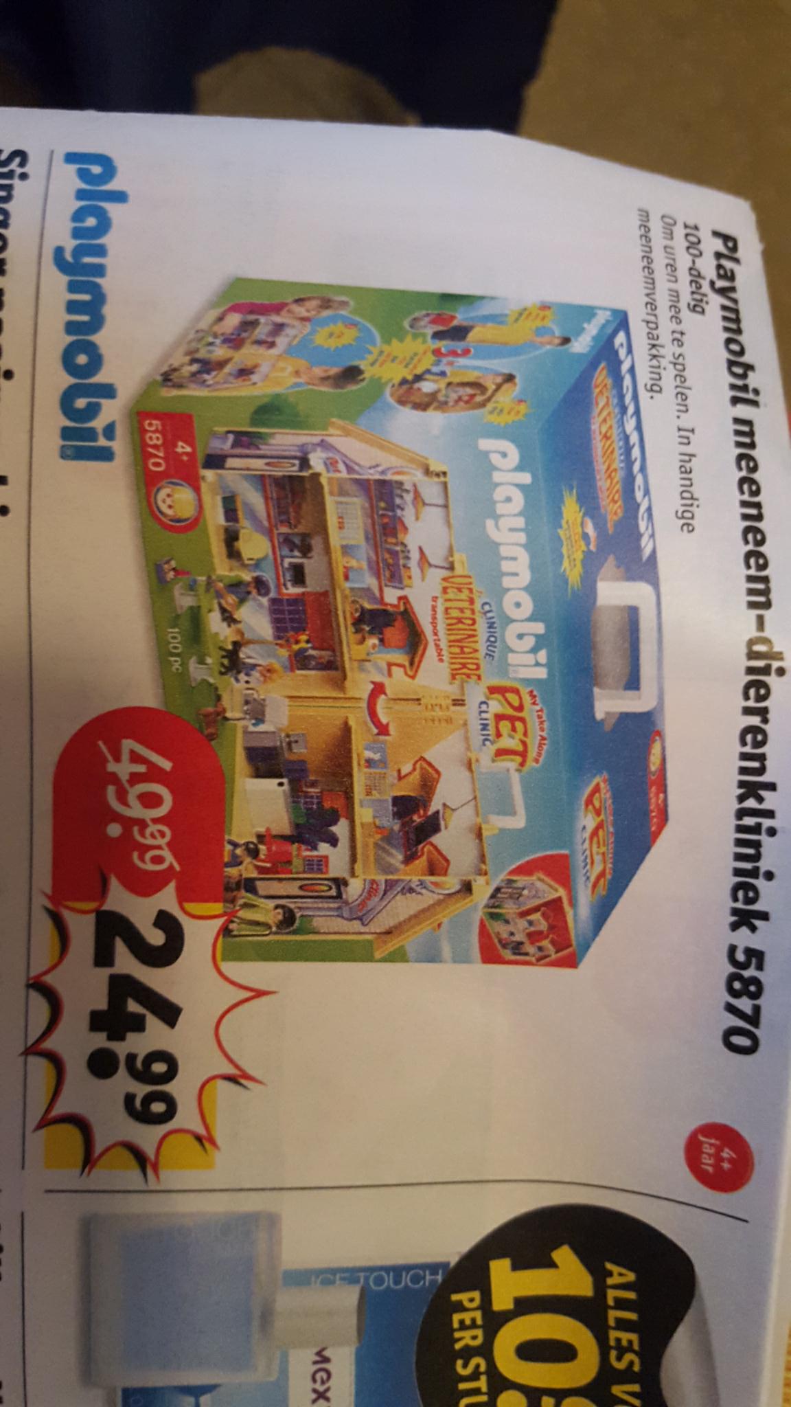Playmobil 5870 Meeneem Dierenkliniek voor €24,99 @ Kruitvat