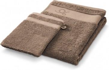 24-Set DESCAMPS - Handdoek + Washandje - CACAO - 50X100CM van €119,95 voor €19,95