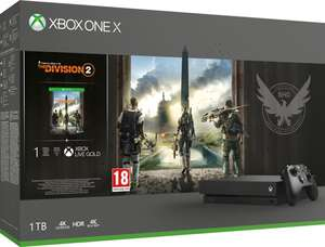 Microsoft Xbox One X + The Division 2 Zwart
