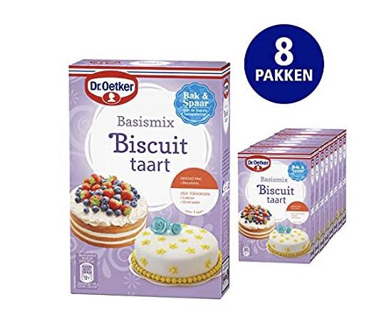8 pakken Dr Oetker Biscuit taart basismix