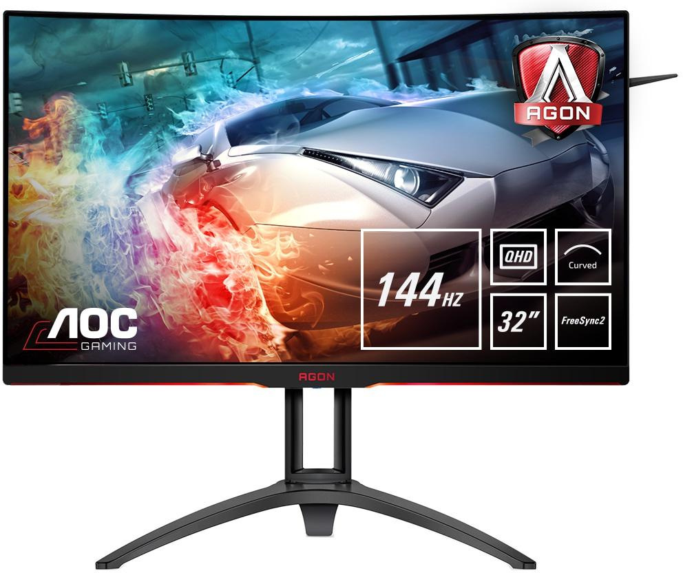 AOC AGON AG322QC4 32'' Curved WQHD VA Gaming Monitor (144 Hz) @ Amazon.nl