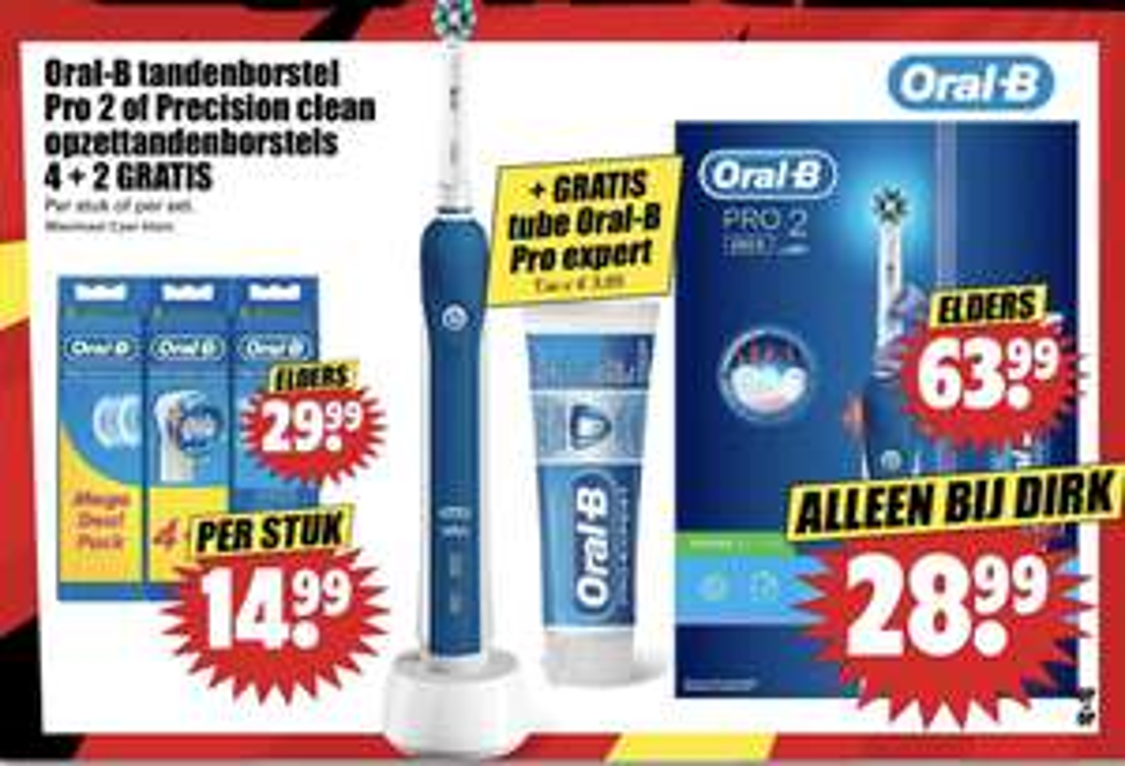 Oral B pro 2 tandenborstel & tube tandpasta