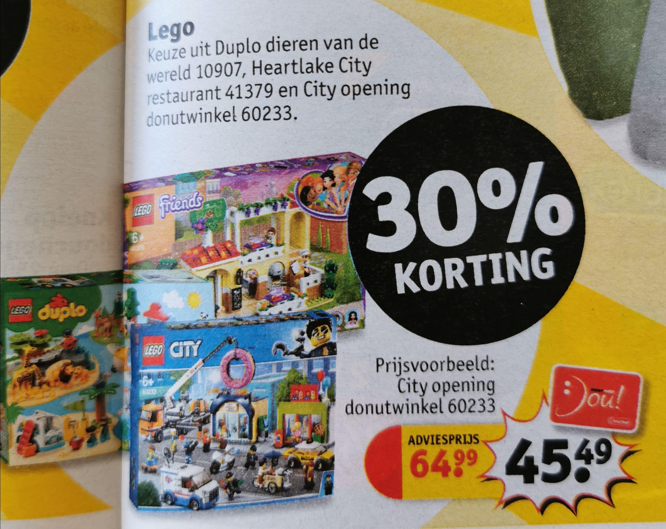 Lego City Donutwinkel 30%korting, nu € 45,49 @ Kruidvat