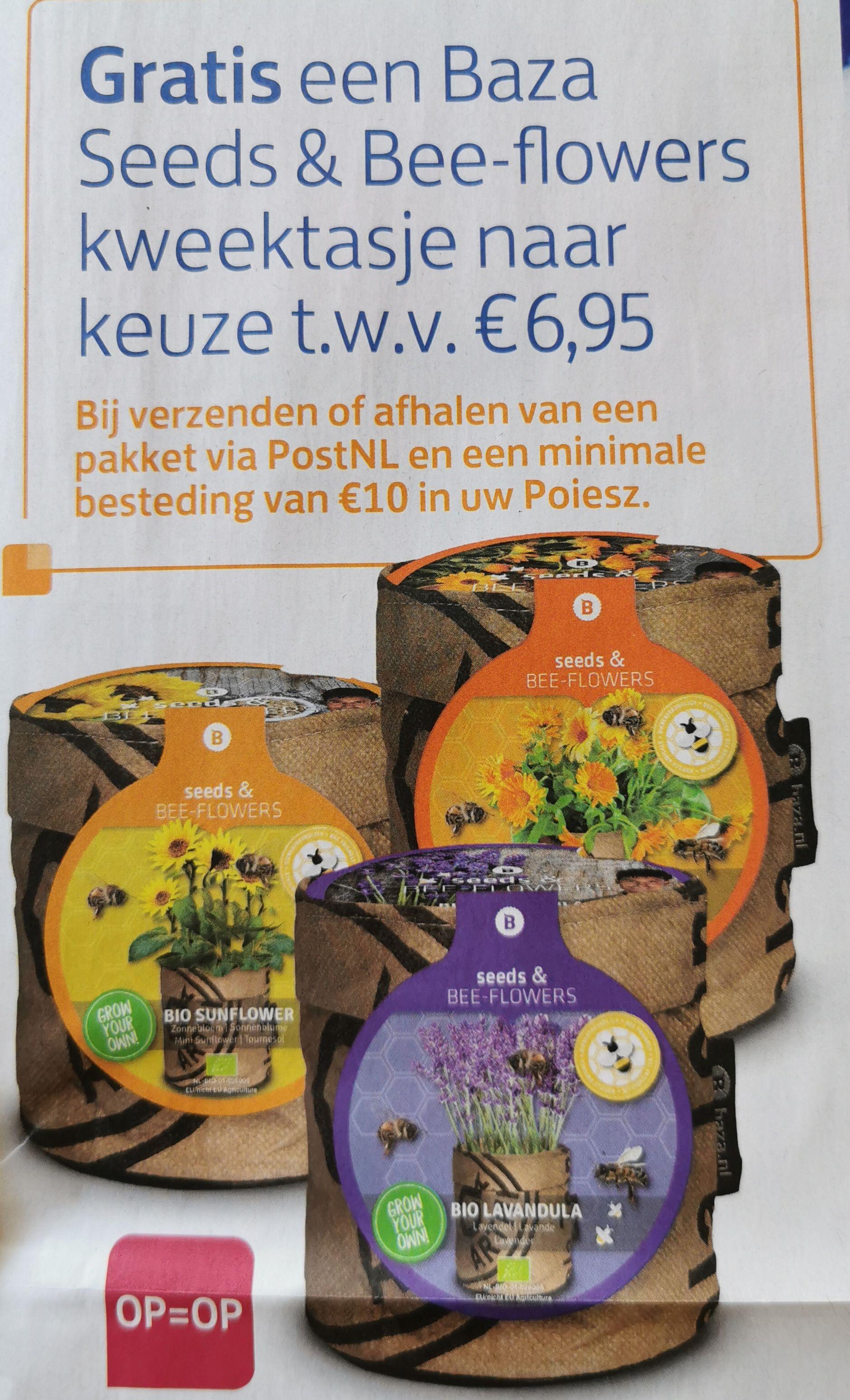 Gratis kweektasje twv € 6,95 bij min. € 10 boodschappen en bij verzenden of ophalen van pakket @ Poiesz