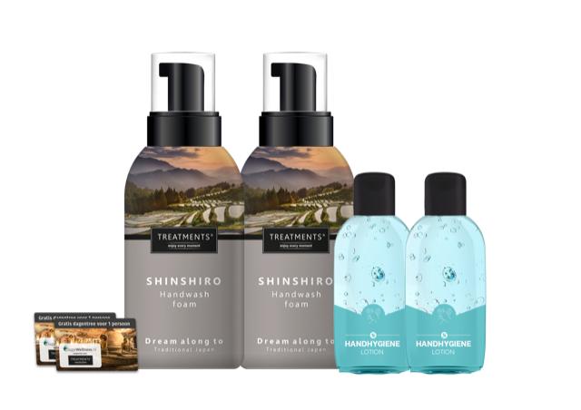 Hand hygiëne pakket incl. 2 sauna entree vouchers bij een vestiging naar keuze (ruim 60% korting)