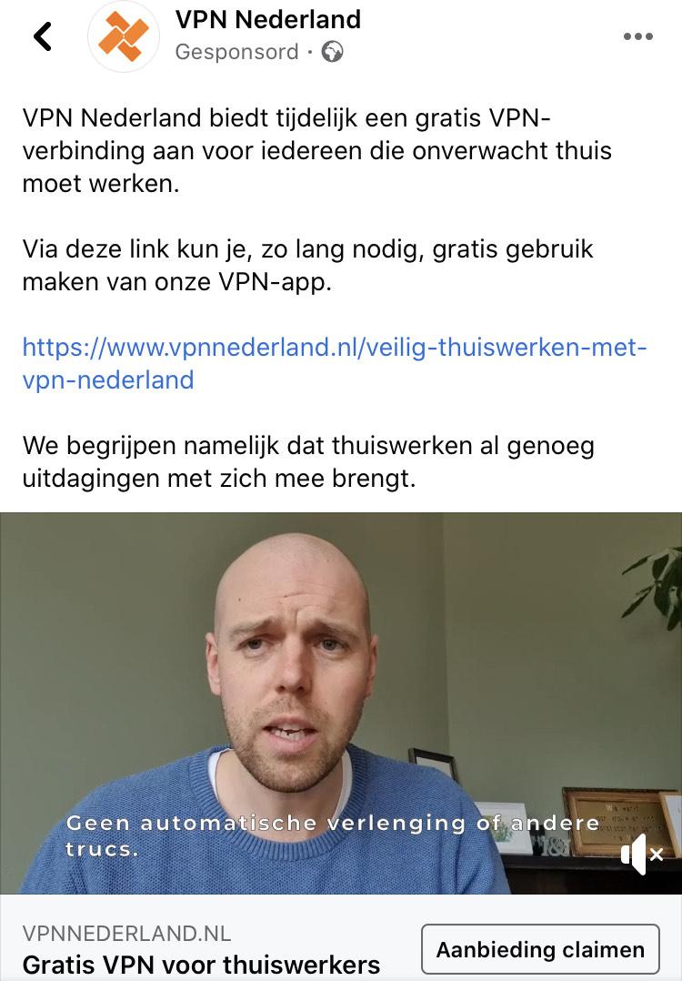 [Corona] VPN Nederland tijdelijk gratis