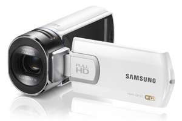 SAMSUNG QF30 HD-camcorder (wit) voor € 192,98 @ Pixmania