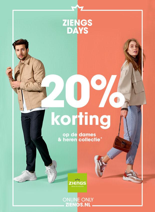 ZIENGS DAYS: 20% korting op de dames & heren collectie*