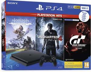 Sony PlayStation 4 Slim 500 GB + Horizon: Zero Dawn + Uncharted 4 + GT Sport @ Bol.com