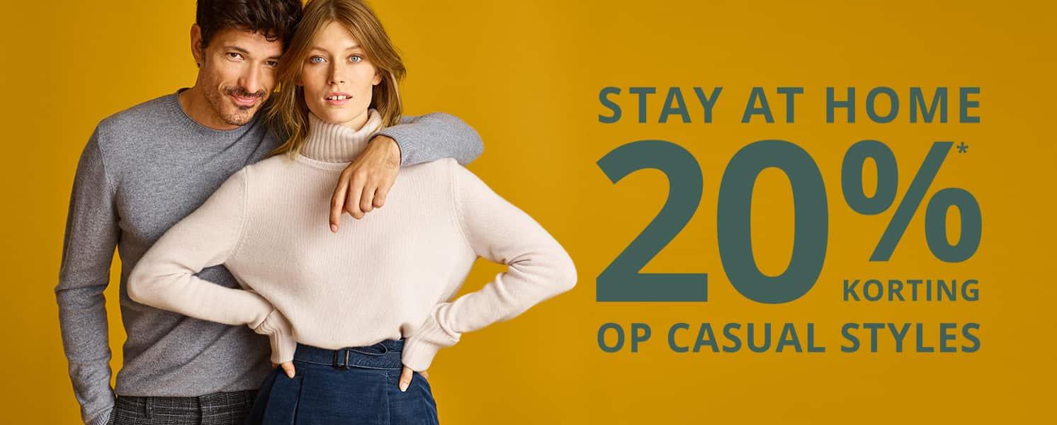 20% EXTRA korting op casual styles @ Peek & Cloppenburg