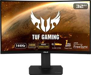 ASUS TUF Gaming VG32VQ - Curved Gaming Monitor - 32 inch (1ms, 144Hz)