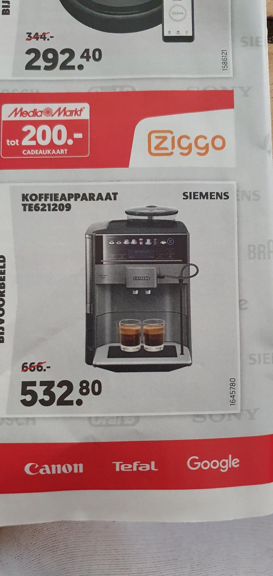 Siemens EQ6 S100 Koffie apparaat