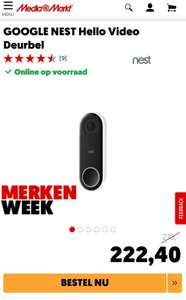 Nest Hello Video Deurbel