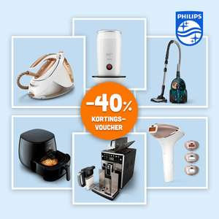 40% korting op geselecteerde Philips producten kortingsvoucher @ Eurosparen