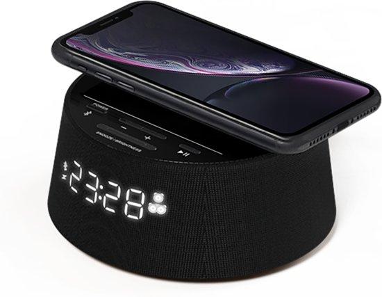 Philips TAPR702/BK - Bluetooth wekker met draadloze laadfunctie smartphone