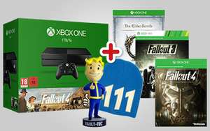 Xbox One (1TB) + Fallout 4 +  Fallout 3 + Elder Scrolls Online Tamriel Unlimited + Meer extra's voor €369 @ GameMania