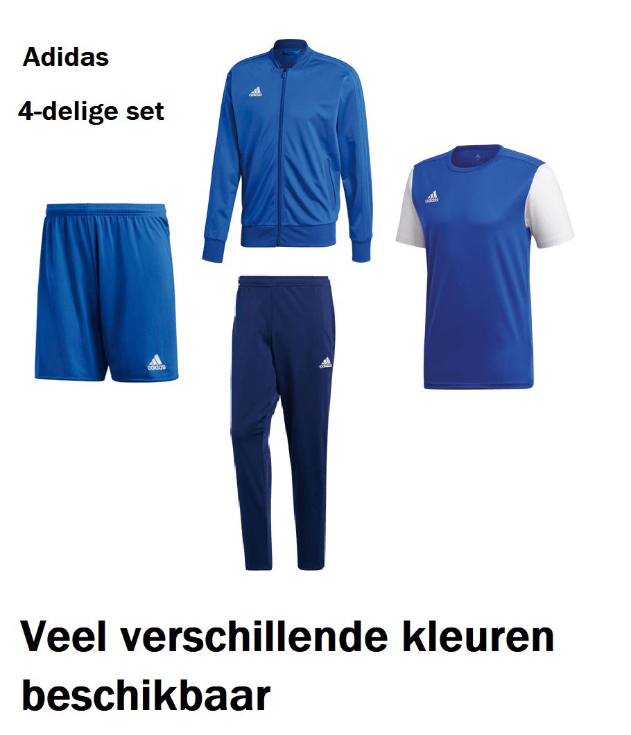 [Nu €55,95] Adidas 4-delige set Condivo vers. kleuren voor €57,95 inc verz. @ Geomix