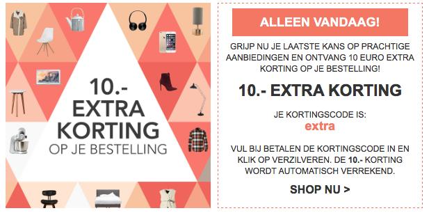 Kortingscode voor €10 korting (minimale besteding €10!) (geselecteerde accounts) @ Wehkamp
