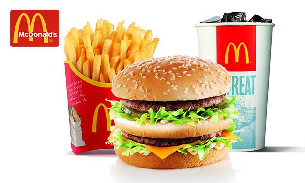 McDonald's groot voordeelmenu €3,95 / 2 footlong subs voor €7,50 (Subway) @ SocialDeal Nijmegen