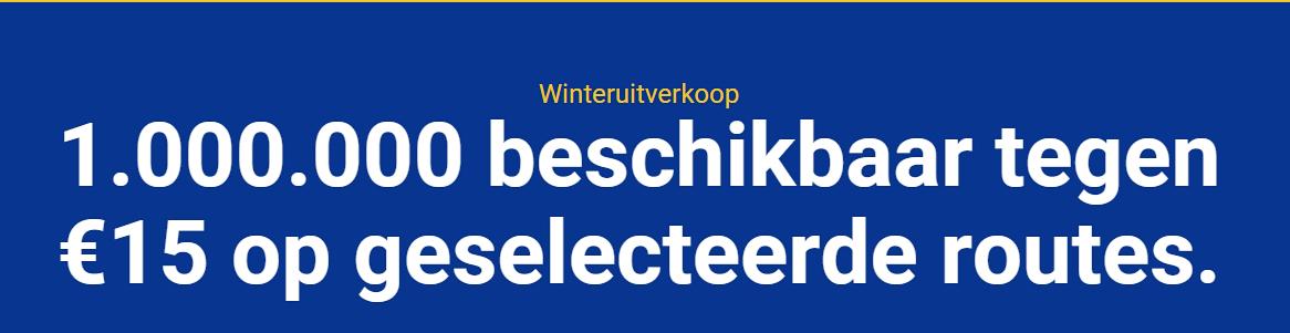 Winteruitverkoop - tickets voor €15 @ Ryanair