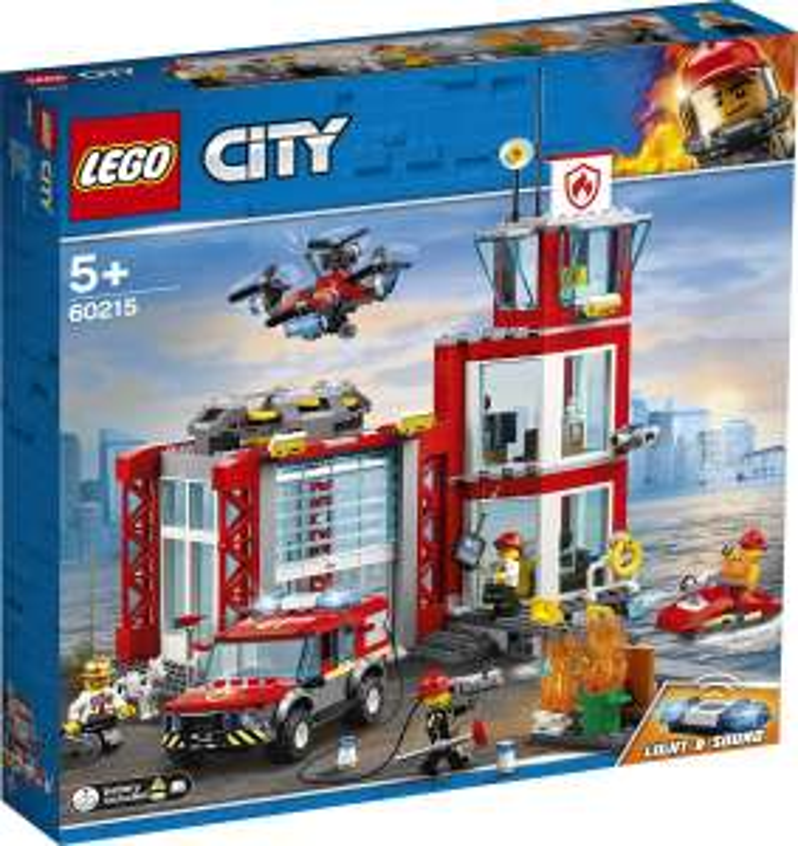 Lego City - 60215 - Brandweerkazerne + Gratis Lego Easter Bunny polybag.