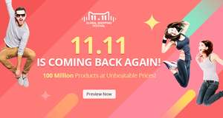 11.11 Global Shopping Festival @ AliExpress (11 november)
