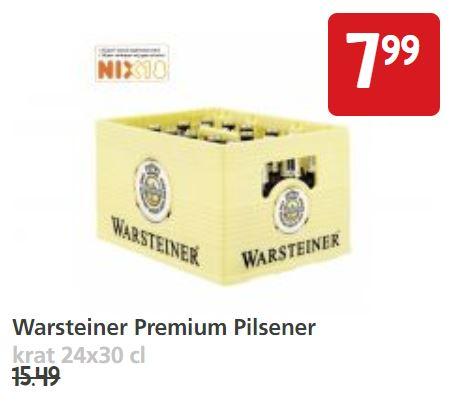 Krat Warsteiner voor 7,99 euro @Jan Linders