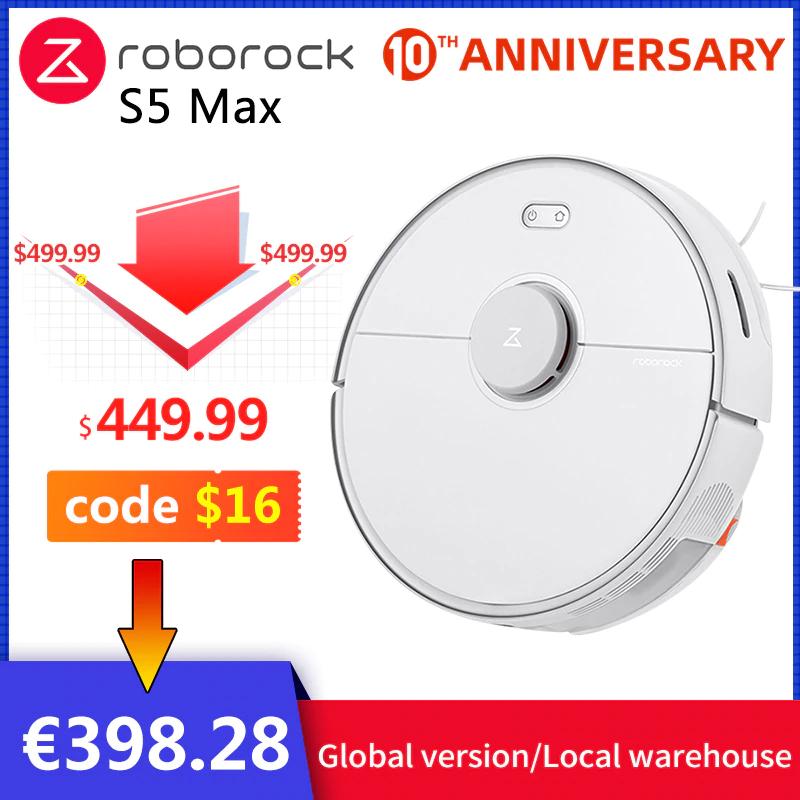 2020 Roborock S5 Max Robot Stofzuiger/Dweiler 2 in 1 (verzending EU - russische couponcodes)
