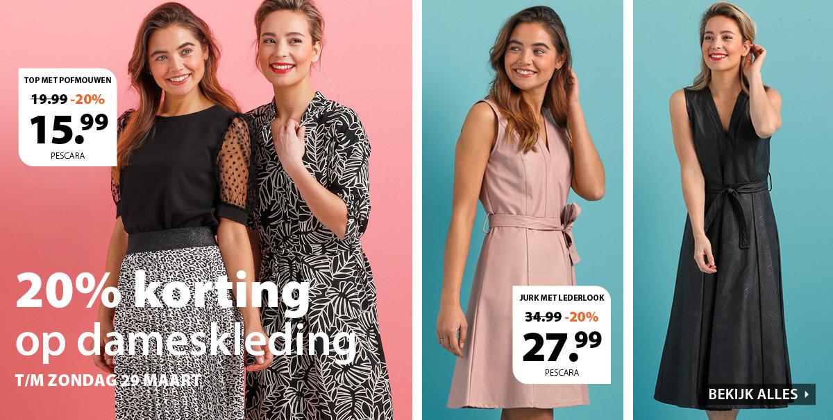 20% korting op dameskleding bij Terstal én 10 of 15% extra korting