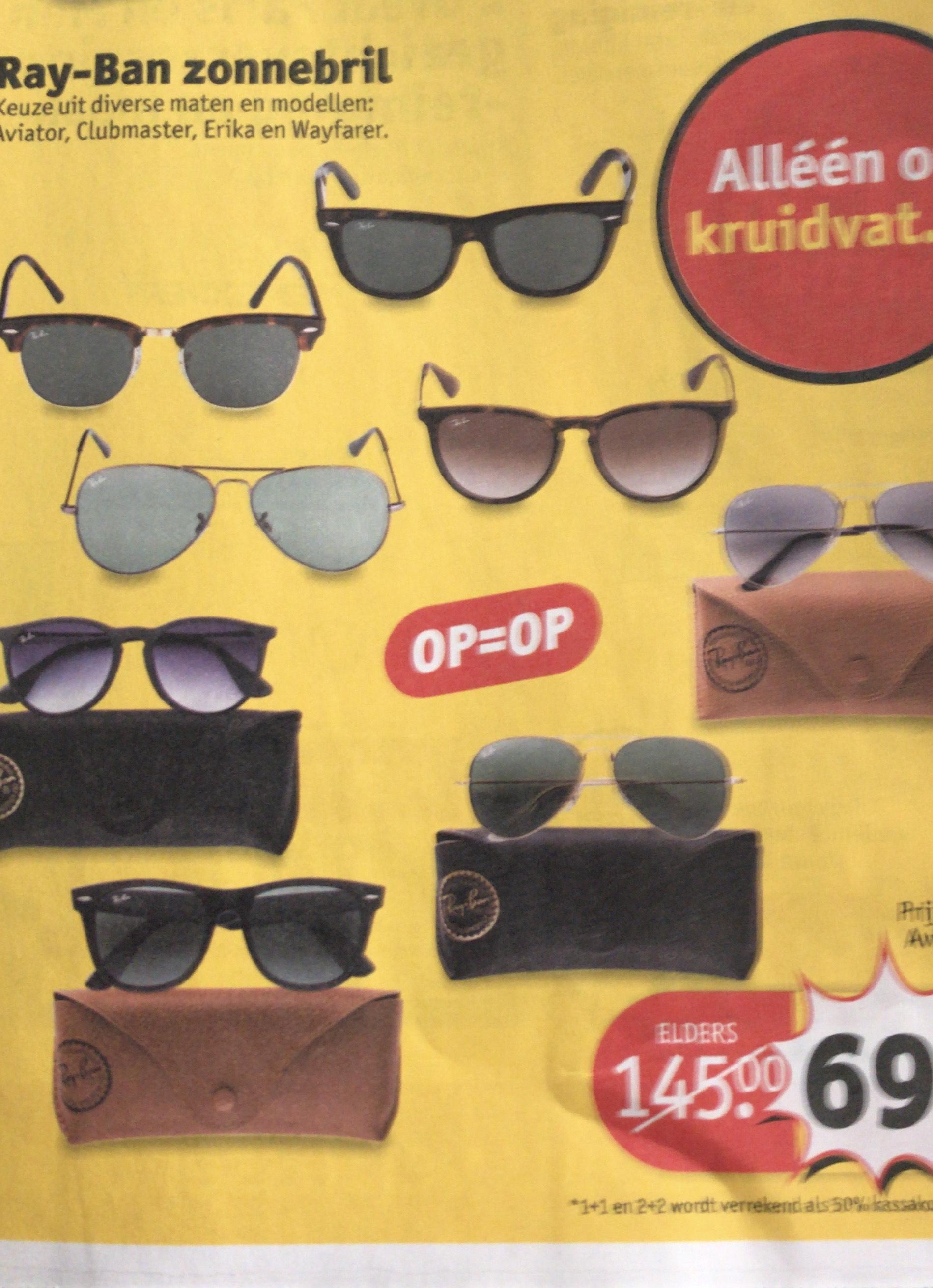Ray- ban zonnebril 69,99 € vanaf dinsdag bij Kruidvat