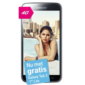 40% korting op abonnement bij Samsung Galaxy S5 + gratis Tab3 7.0 @ T-Mobile