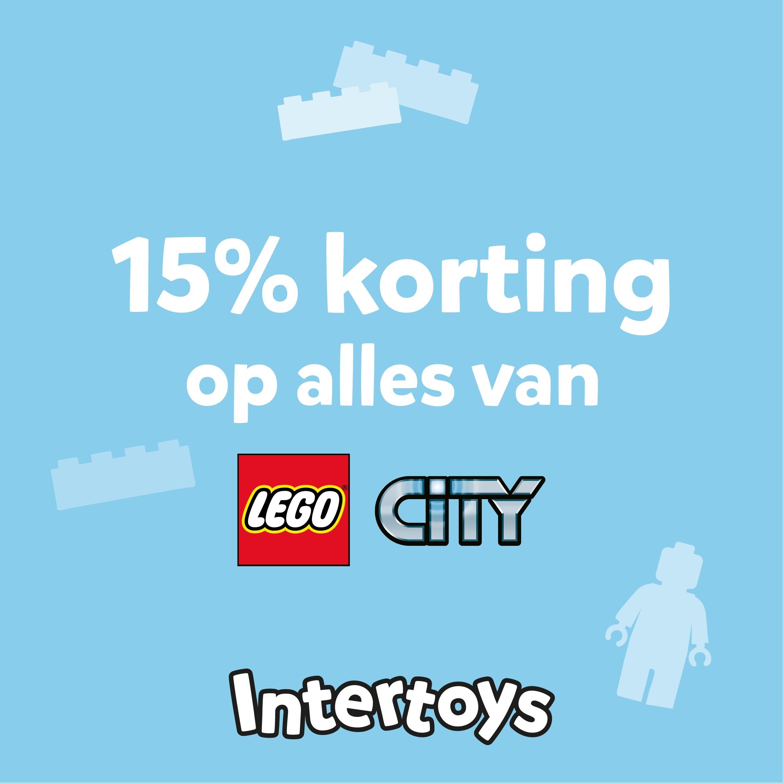 15% korting op alle Lego city en Duplo