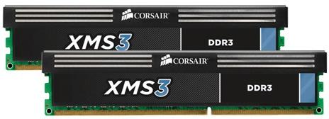 Corsair XMS3 8GB (2x4 GB) DDR3 1600 Mhz Geheugen (CMX8GX3M2A1600C11)